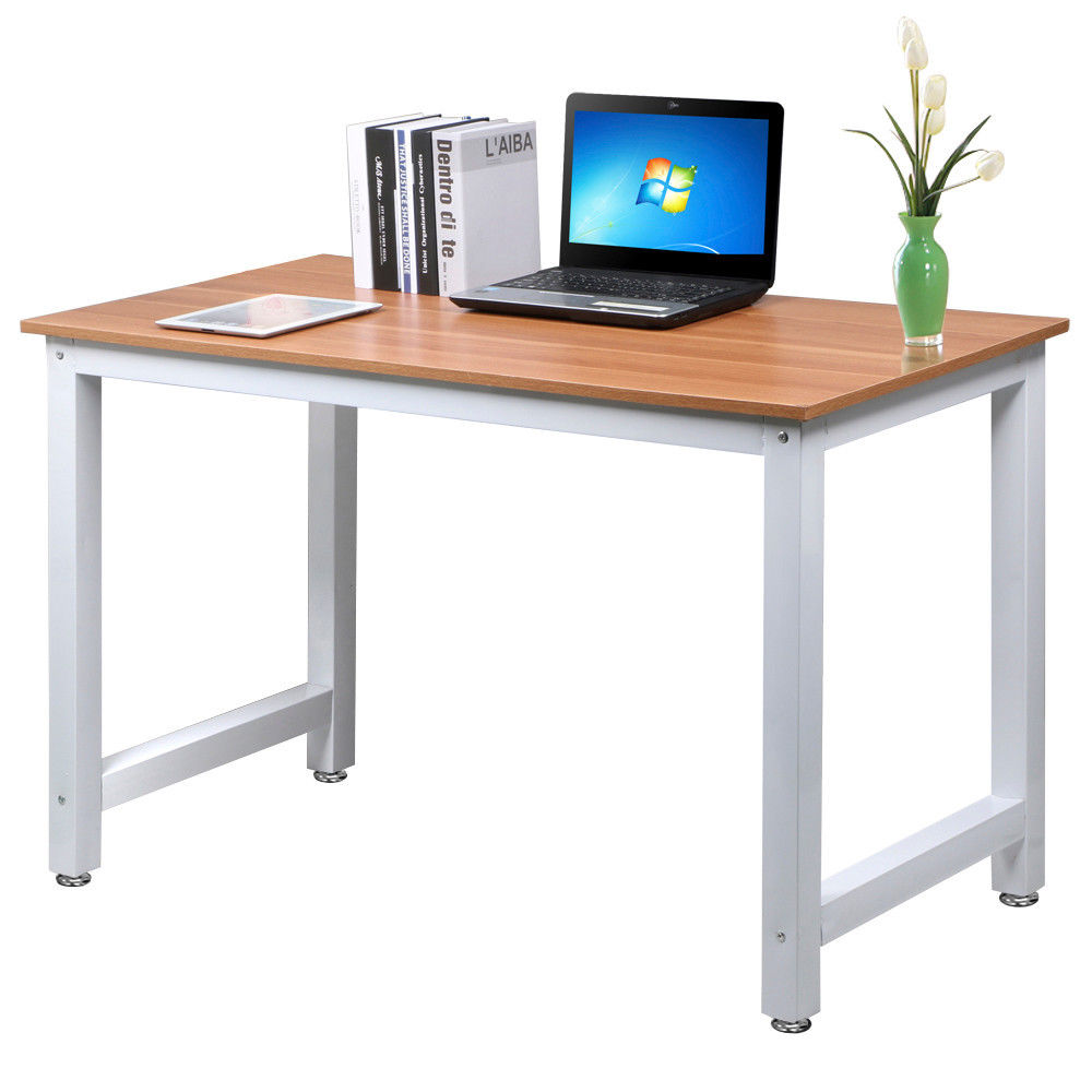 New wood computer desk pc laptop table workstation study for All wood computer desk