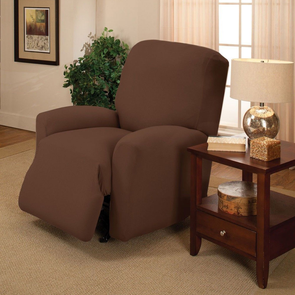 Sofa Stretch Slipcover Couch Cover Chair Loveseat Sofa Recliner Cover Chocolate