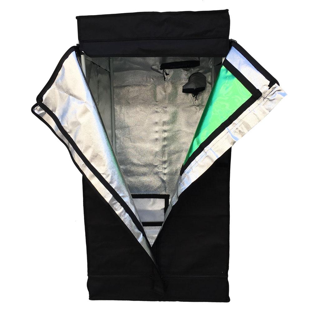 24 x24 x48 indoor grow tent reflective mylar hydroponi for Indoor gardening reflective material