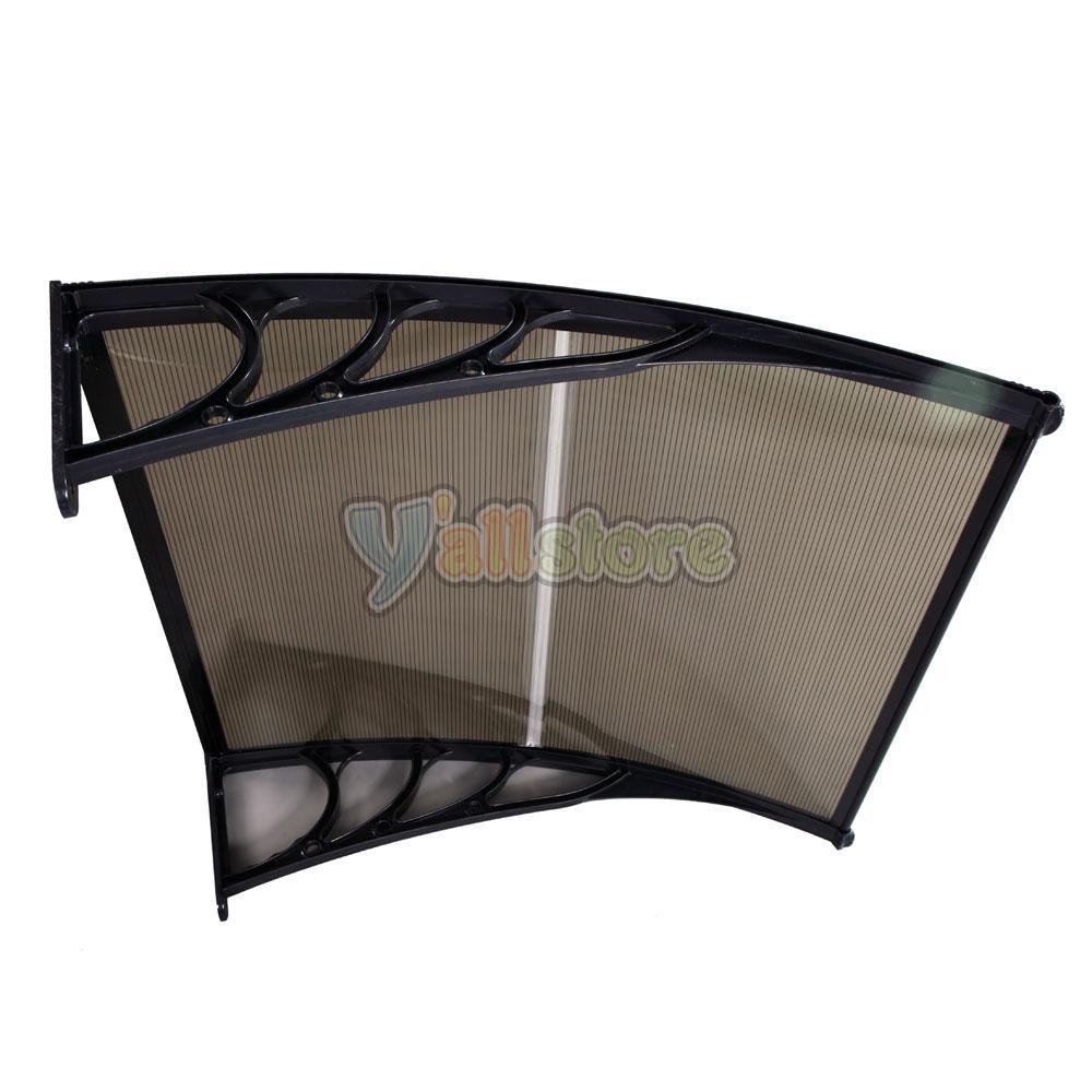 Diy 40 x 40 window awning door canopy yard garden uv rain for 10 x 40 window