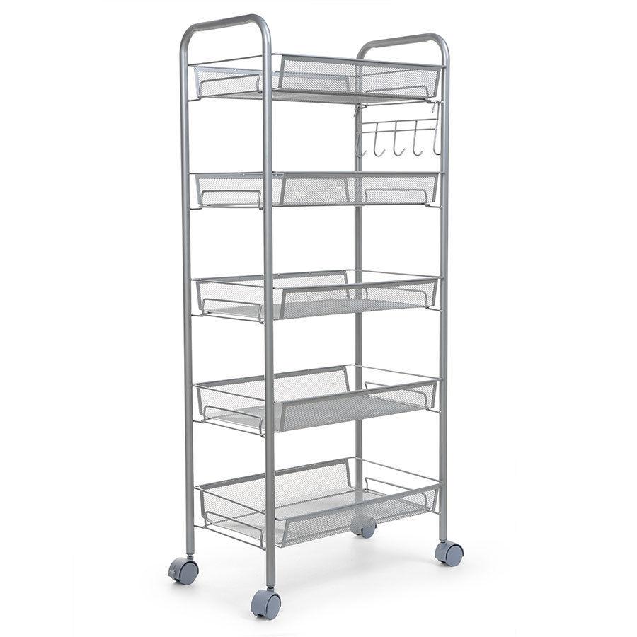 Kitchen Shelves And Racks Online: New 3/4/5 Tier Shelving Rack Shelf Rolling Kitchen Pantry