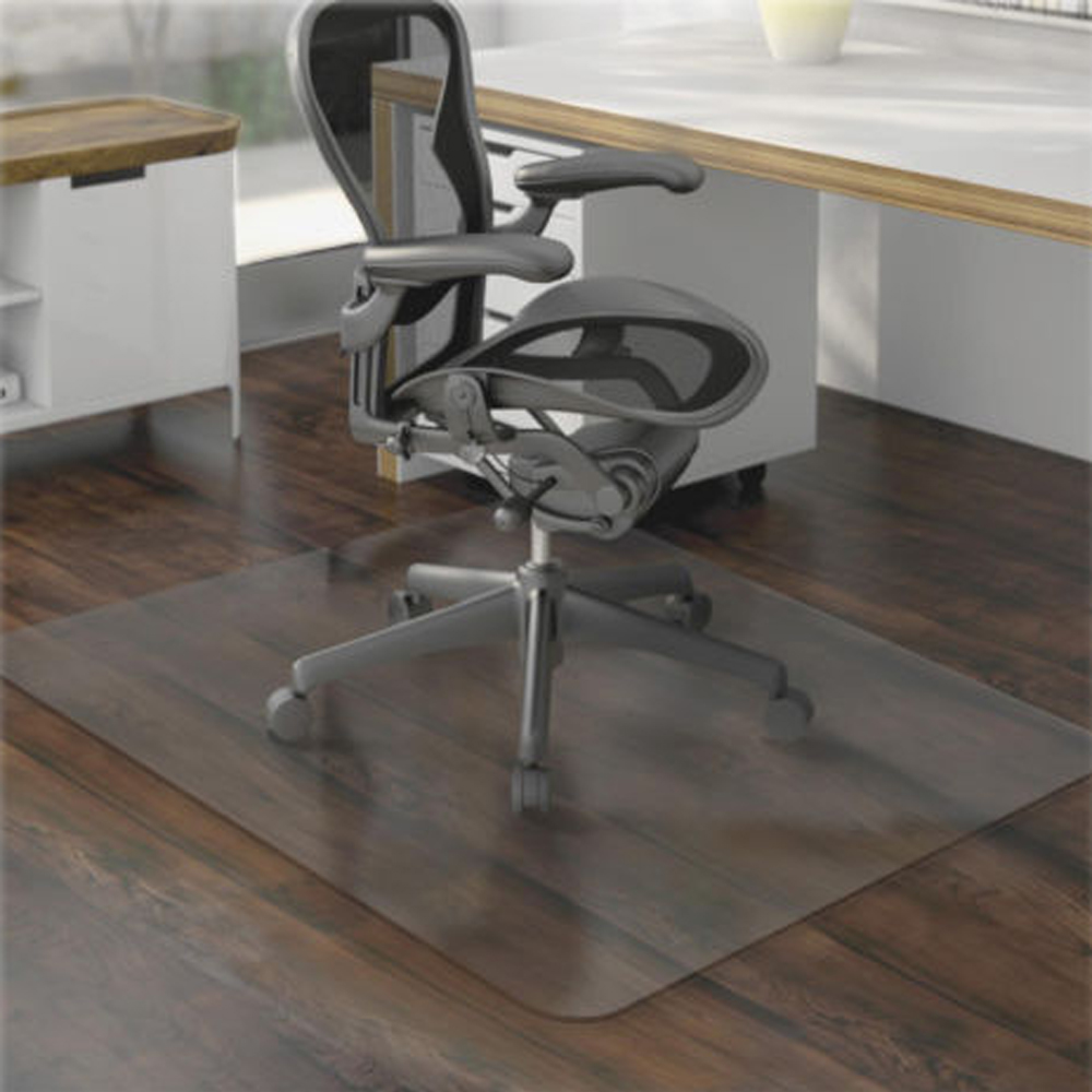 36 x 48 hard floor home office pvc floor mat square for office rolling chair us ebay. Black Bedroom Furniture Sets. Home Design Ideas