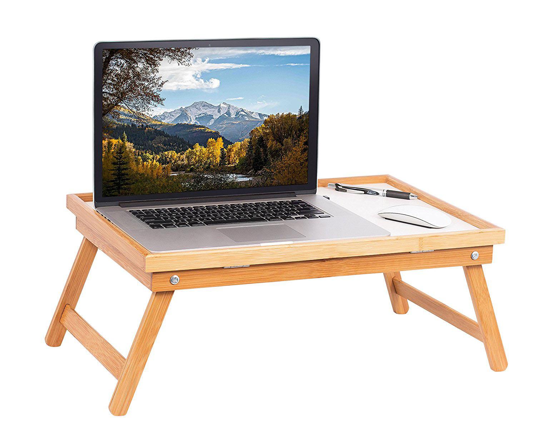 wood breakfast bed tray lap desk serving table foldable legs bamboo food dinner ebay. Black Bedroom Furniture Sets. Home Design Ideas