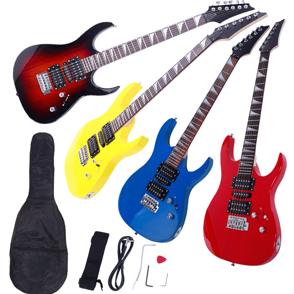 new 4 colors practice beginner electric guitar w bag strap pick accessories ebay. Black Bedroom Furniture Sets. Home Design Ideas