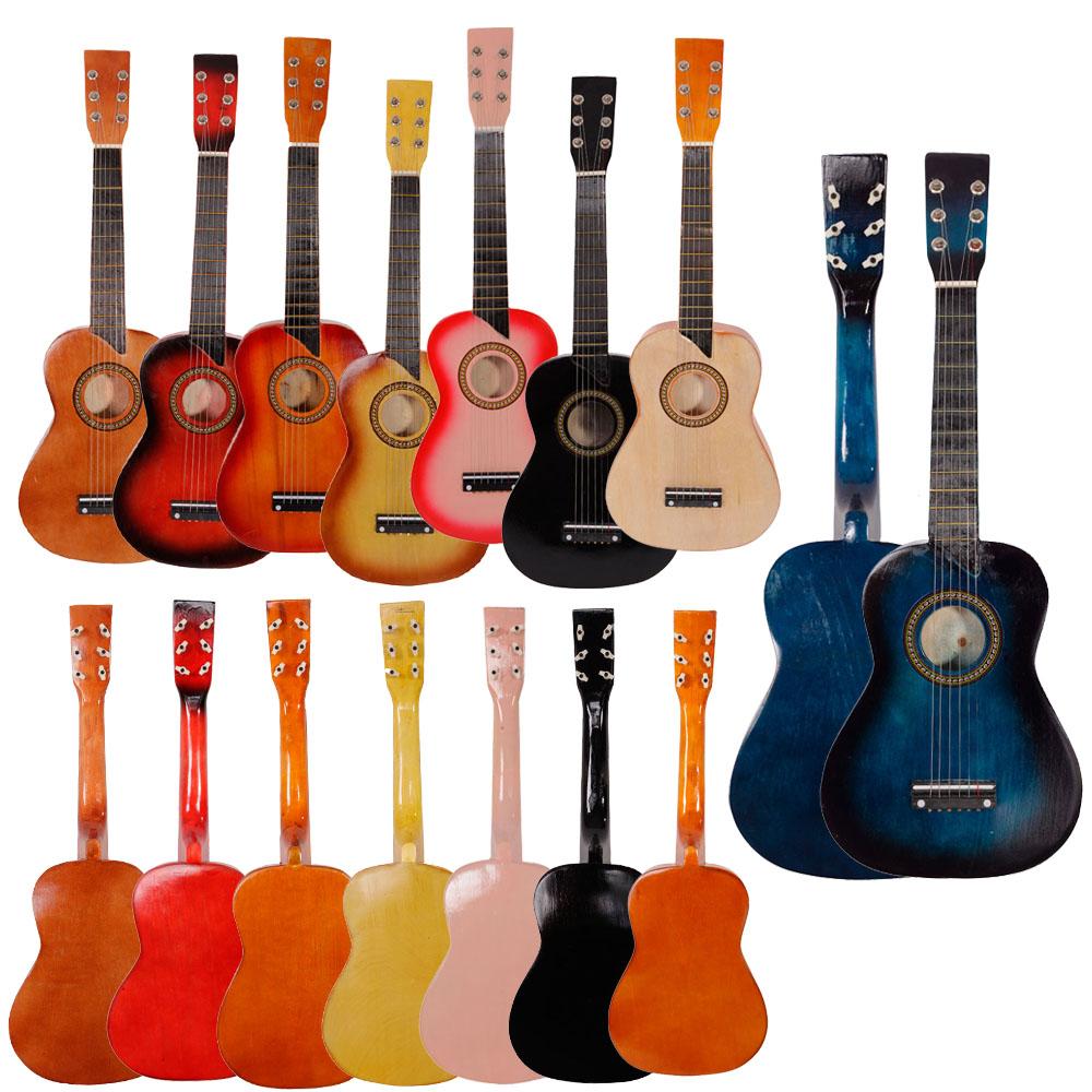 25 children kids 6 string acoustic guitar beginner practice musical instrument. Black Bedroom Furniture Sets. Home Design Ideas