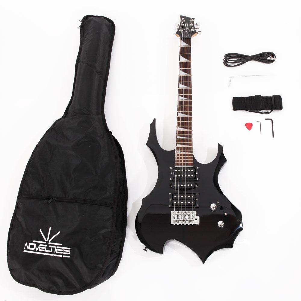 glarry burning fire black beginner electric guitar w accessories for beginner ebay. Black Bedroom Furniture Sets. Home Design Ideas