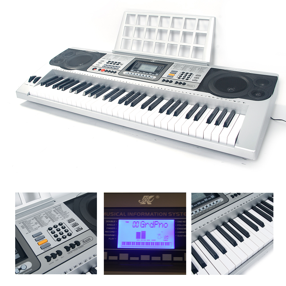 full size 61 key music digital electronic piano keyboard electric piano organ ebay. Black Bedroom Furniture Sets. Home Design Ideas