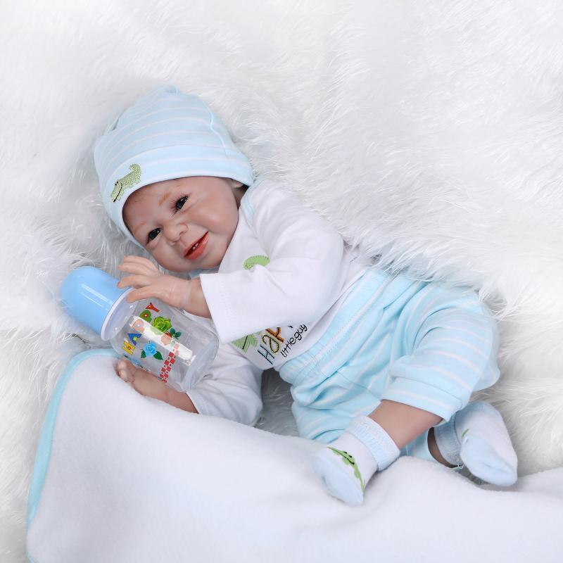 Details about NPK Reborn Baby Doll Realistic Baby Dolls 22   Vinyl Silicone  Newborn Cute Boy 03b9f71e886c