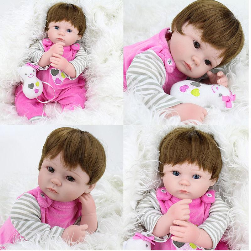 16 Reborn Baby Dolls Real Life Vinyl Silicone Girl Newborn Doll Birthday Gift Reborn