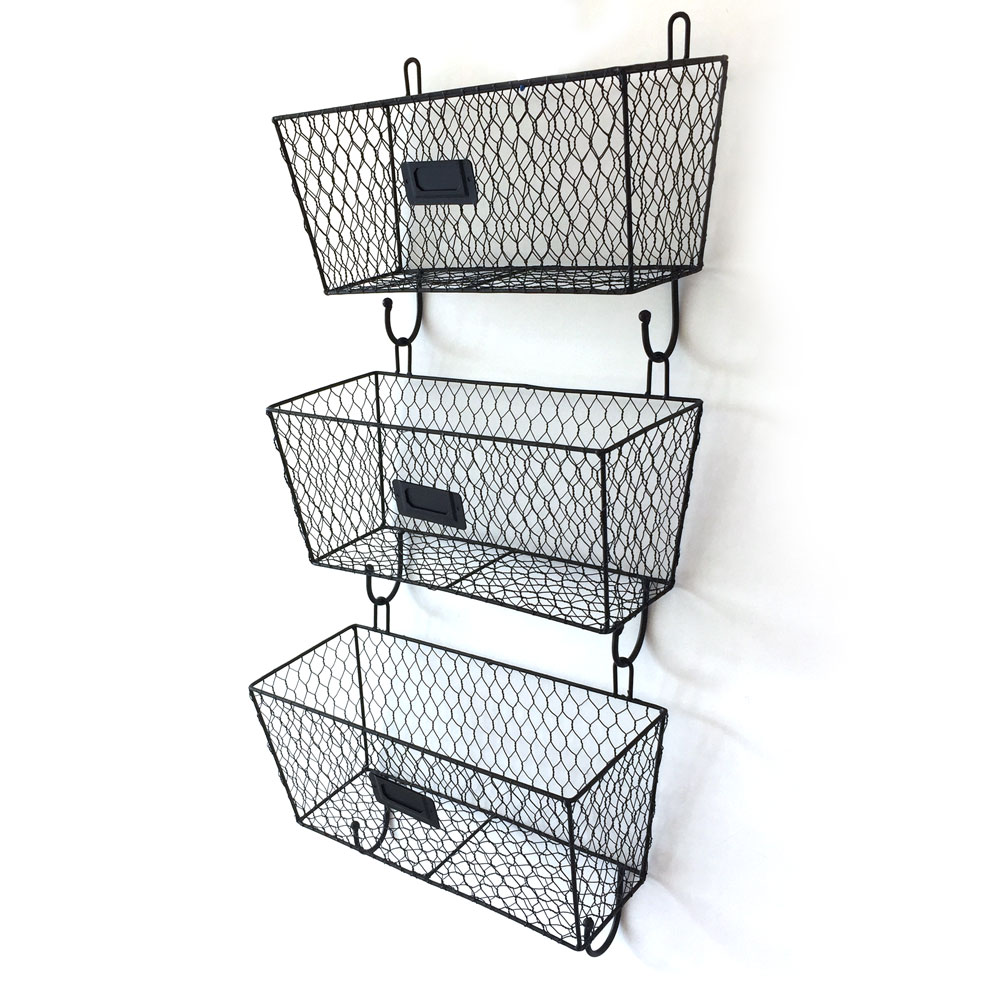 3 Tier Mail Letter Rack Key Holder Hook Wall Mount Storage Organizer Office  Home