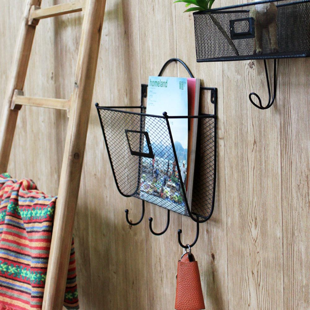 new wall mounted letter rack key holder hooks mail. Black Bedroom Furniture Sets. Home Design Ideas