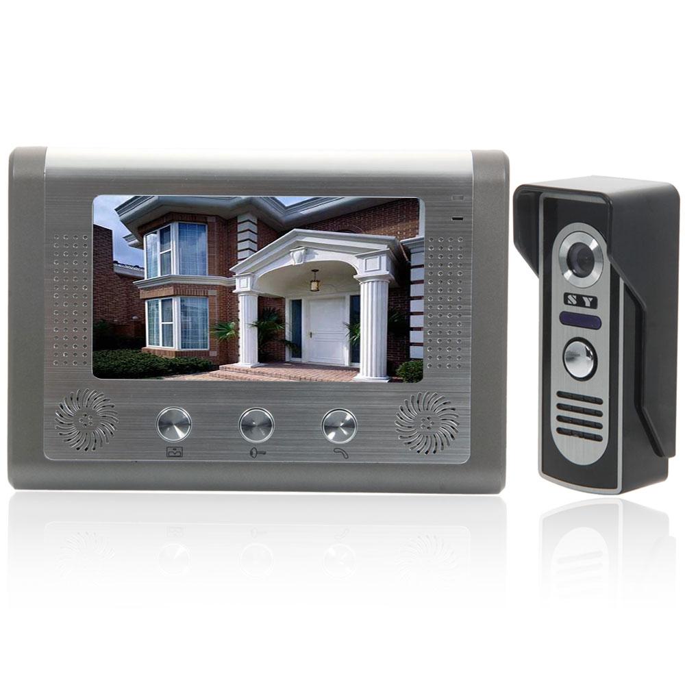 Wired 7 Lcd Rainproof Video Doorbell Intercom System Ir Camera 2 Wiring Up