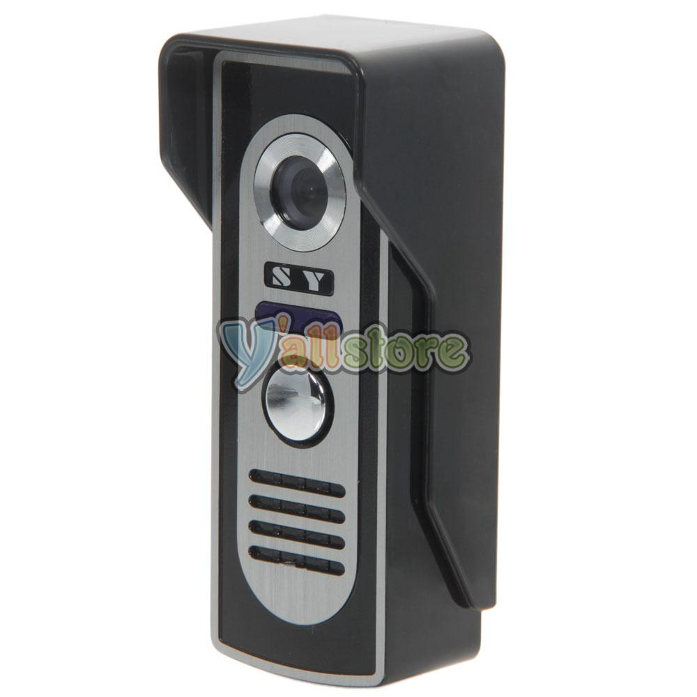 7 wired video door phone doorbell intercom night vision for Door intercom