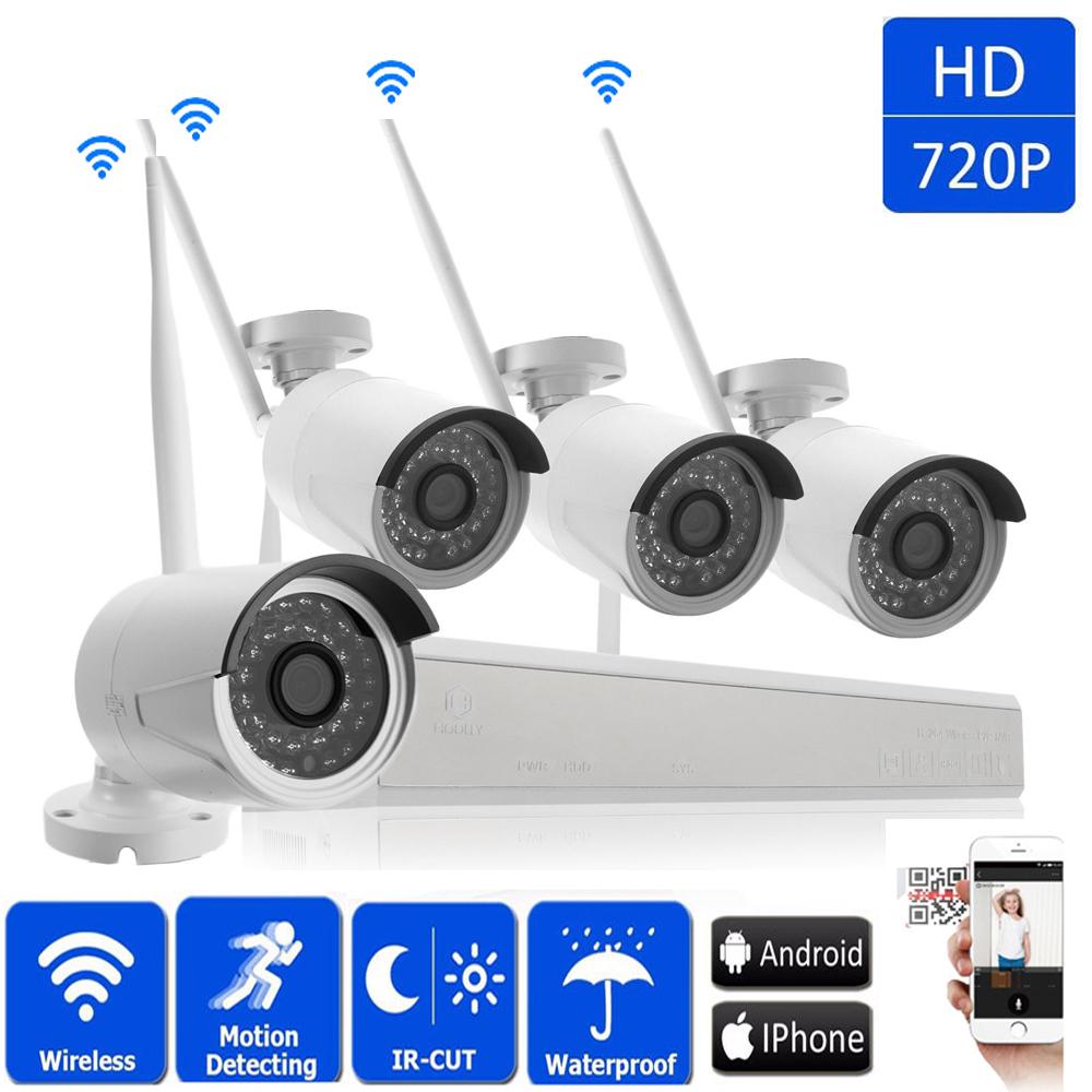 4ch 1080p Wireles Nvr Outdoor Waterproof Wifi Ir Cut 960p