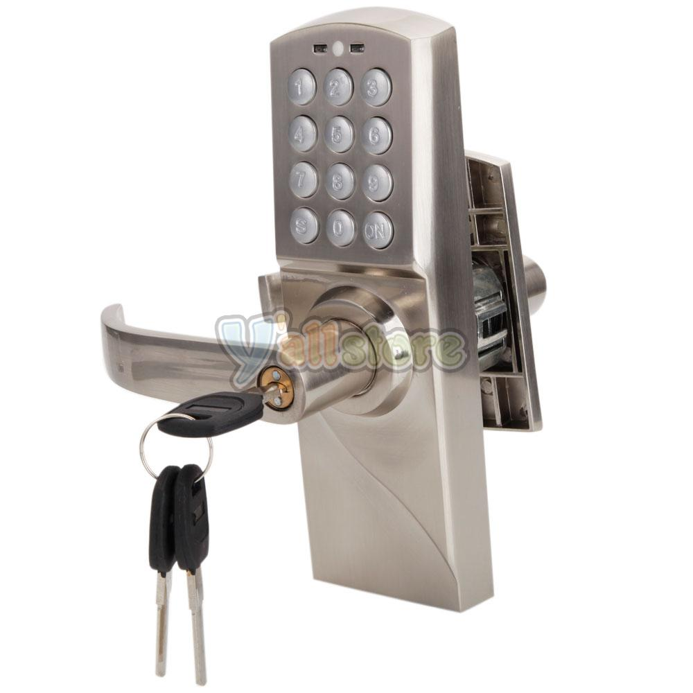 Digital Electronic Code Keyless Keypad Security Entry Door