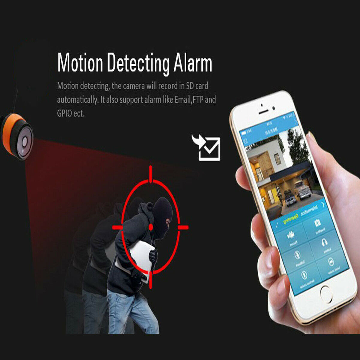 Details about 960P HD Outdoor Wireless IR CCTV Network Wifi IP Camera P2P  Android iOS IR-Cut