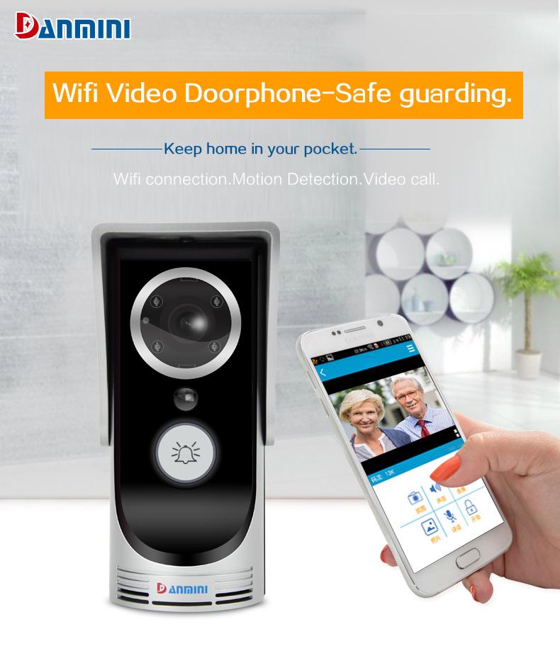 2018 Wireless Wifi Remote Video Intercom Doorbell Ir