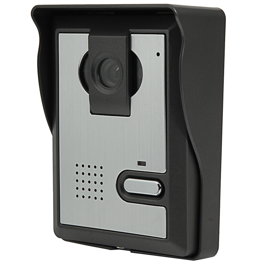 7 wired video door phone doorbell intercom kit 1 camera 1. Black Bedroom Furniture Sets. Home Design Ideas