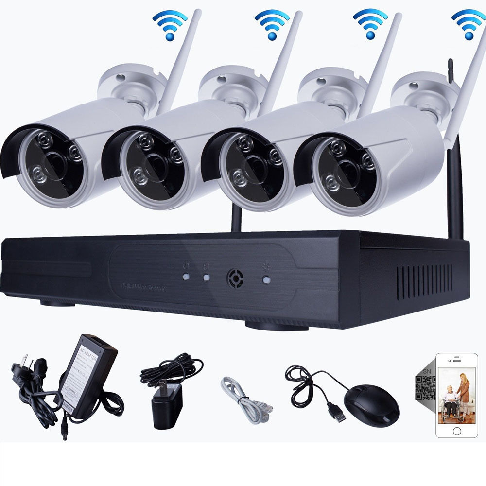 720p kit wireless 8ch p2p nvr wifi outdoor camera security system night vision ebay. Black Bedroom Furniture Sets. Home Design Ideas