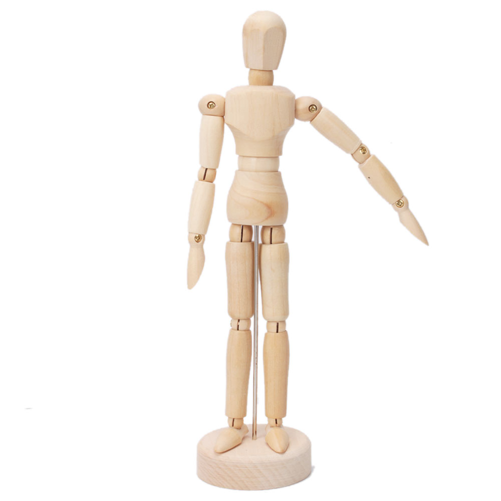 This is a graphic of Selective Wooden Drawing Mannequin