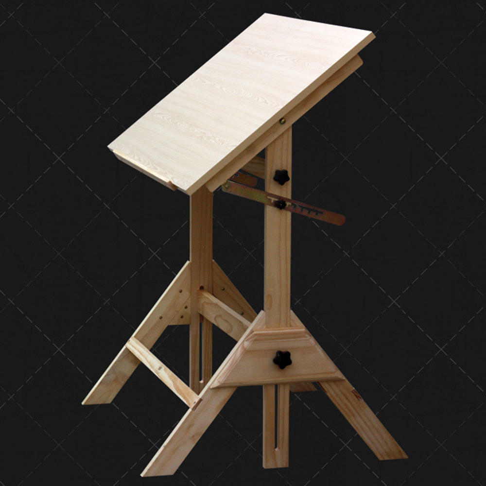 Office Home Drawing Work Station Adjustable Desk W/Drafting Table Wood Art  Craft