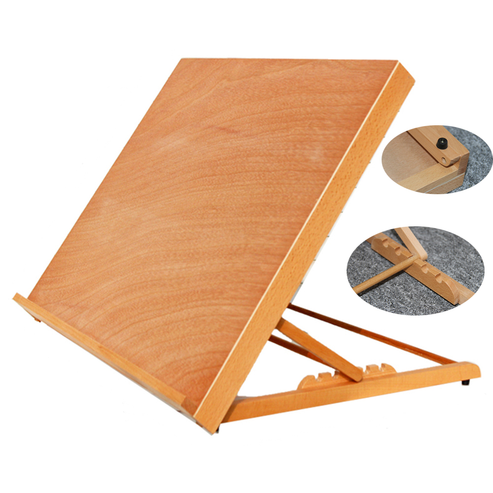 Portable folding table top desk easel adjust angle drawing for The drawing board