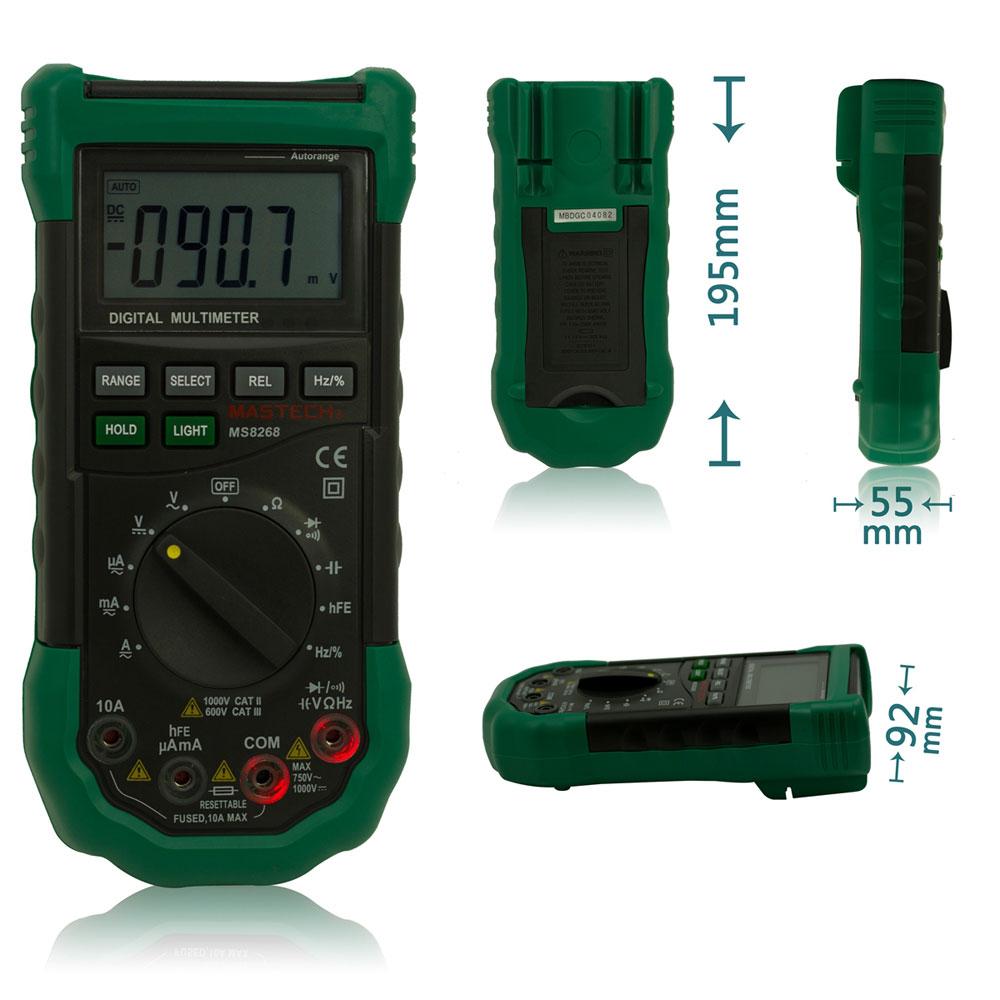 Mastech Ms8268 Digital Multimeter : Mastech ms auto manual digital multimeter ac dc
