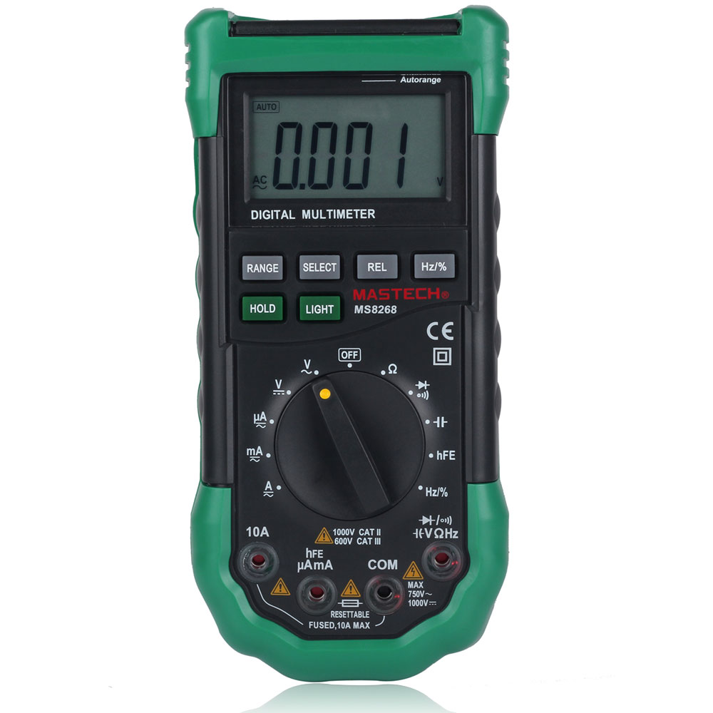 Digital Meter Tester : Mastech ms auto manual digital multimeter ac dc