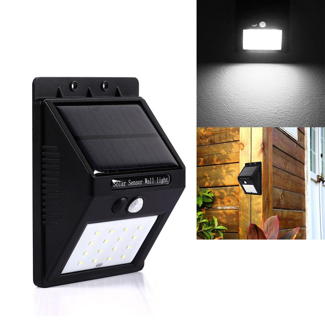 16 LED Solar Power PIR Motion Sensor Wall Light Garden