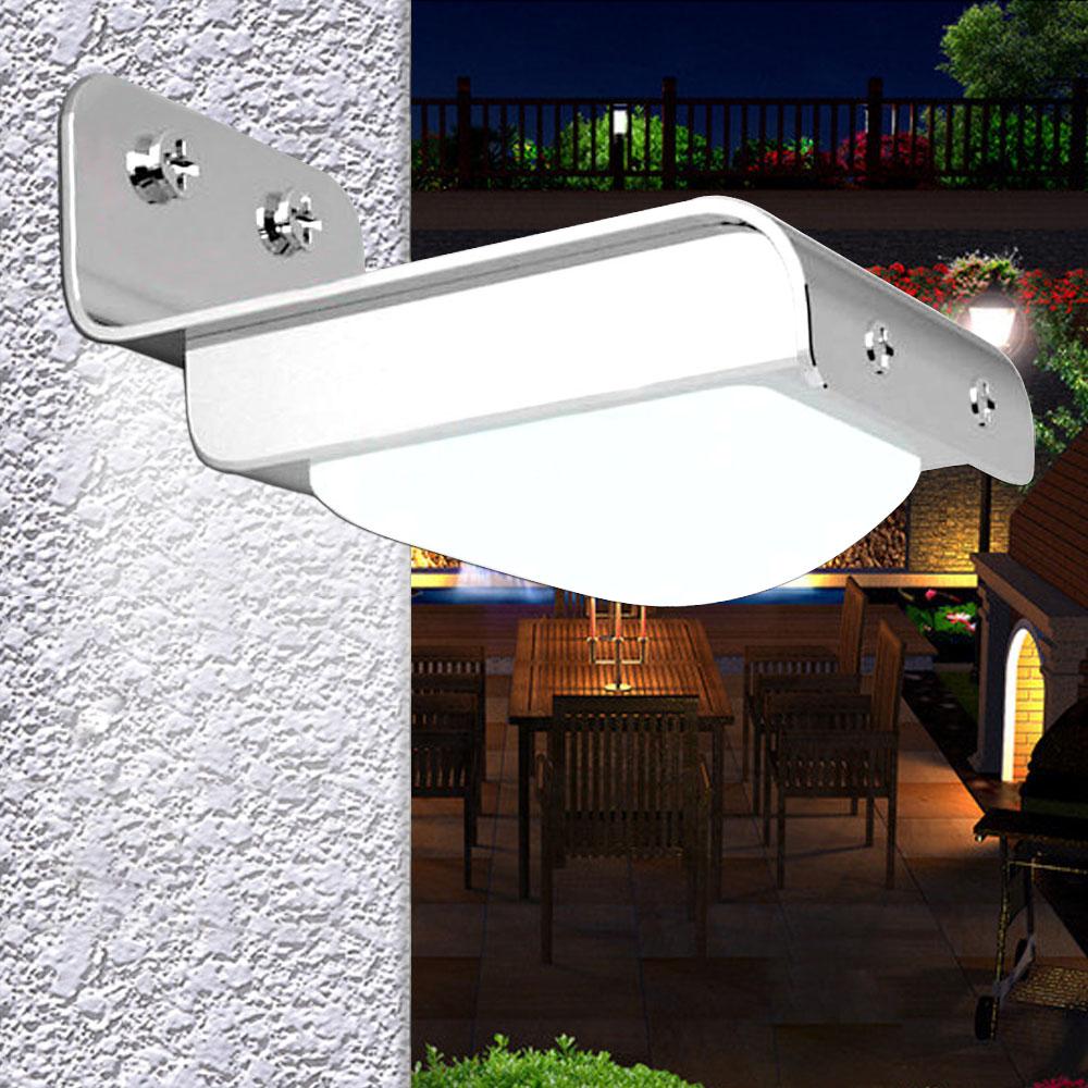 Porch Light Pir: 16-LED Solar Powered PIR Motion Sensor Garden Security