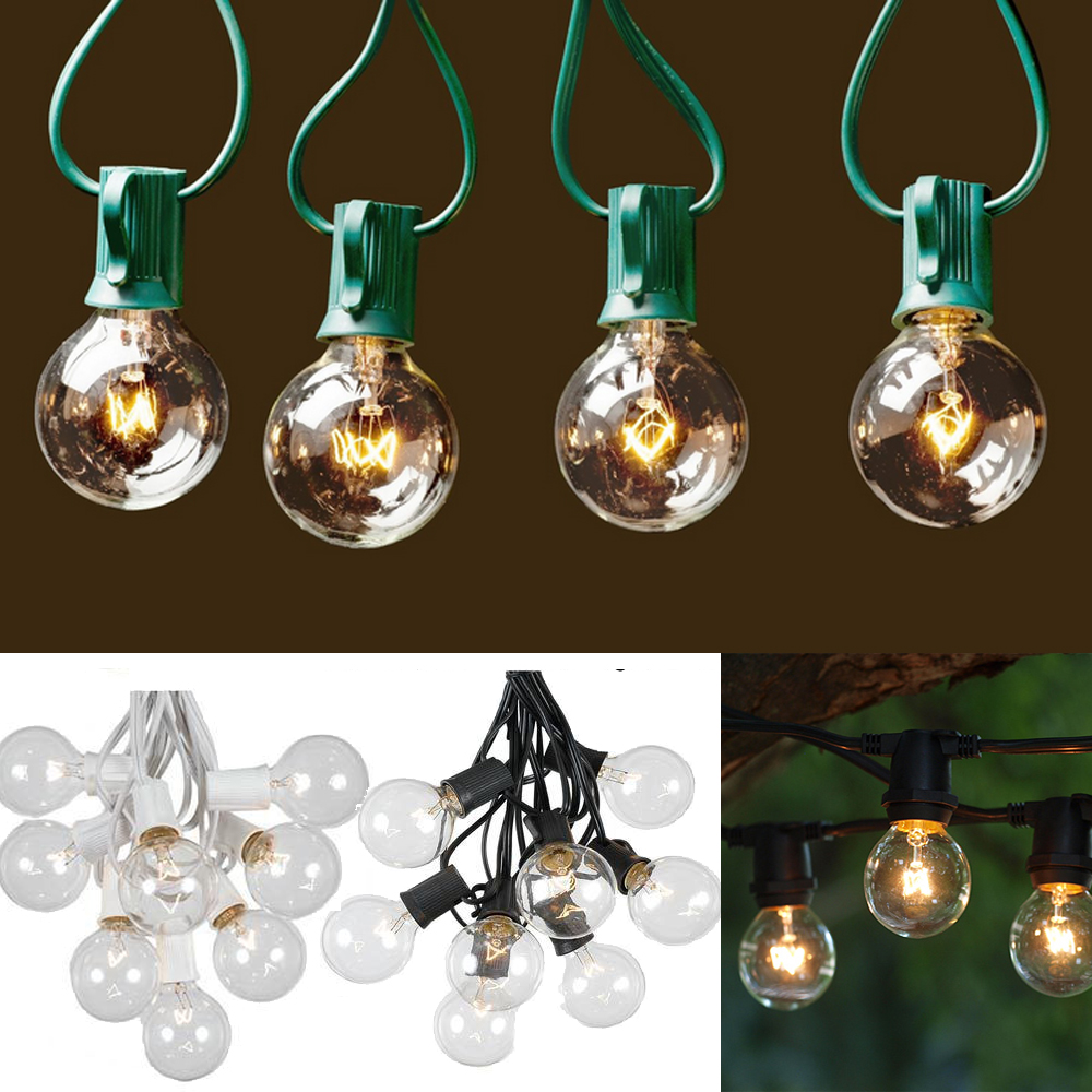Lot of 25: 25Ft G40 Tree Globe Patio String Lights Outdoor Garden Xmas Party