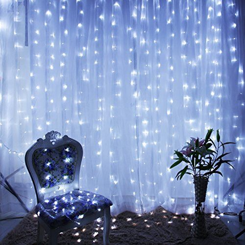 White 300 Led 3x3m Fairy Curtain String Lights Wedding