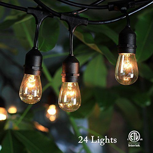High Quality 48FT Outdoor Waterproof Commercial Grade Patio Globe String Lights Bulbs US