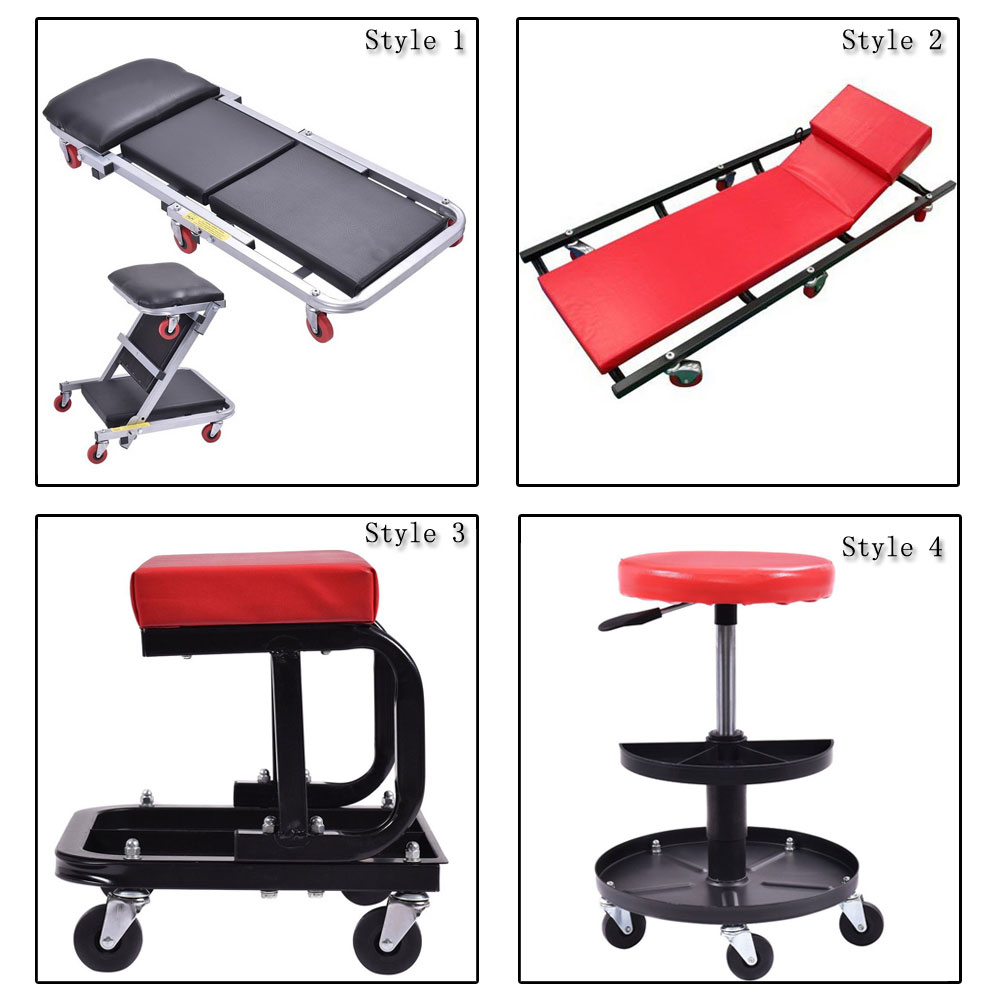 Genial Rolling Creeper Seat Mechanic Stool Chair Repair Tools Tray Shop Auto Car  Garage
