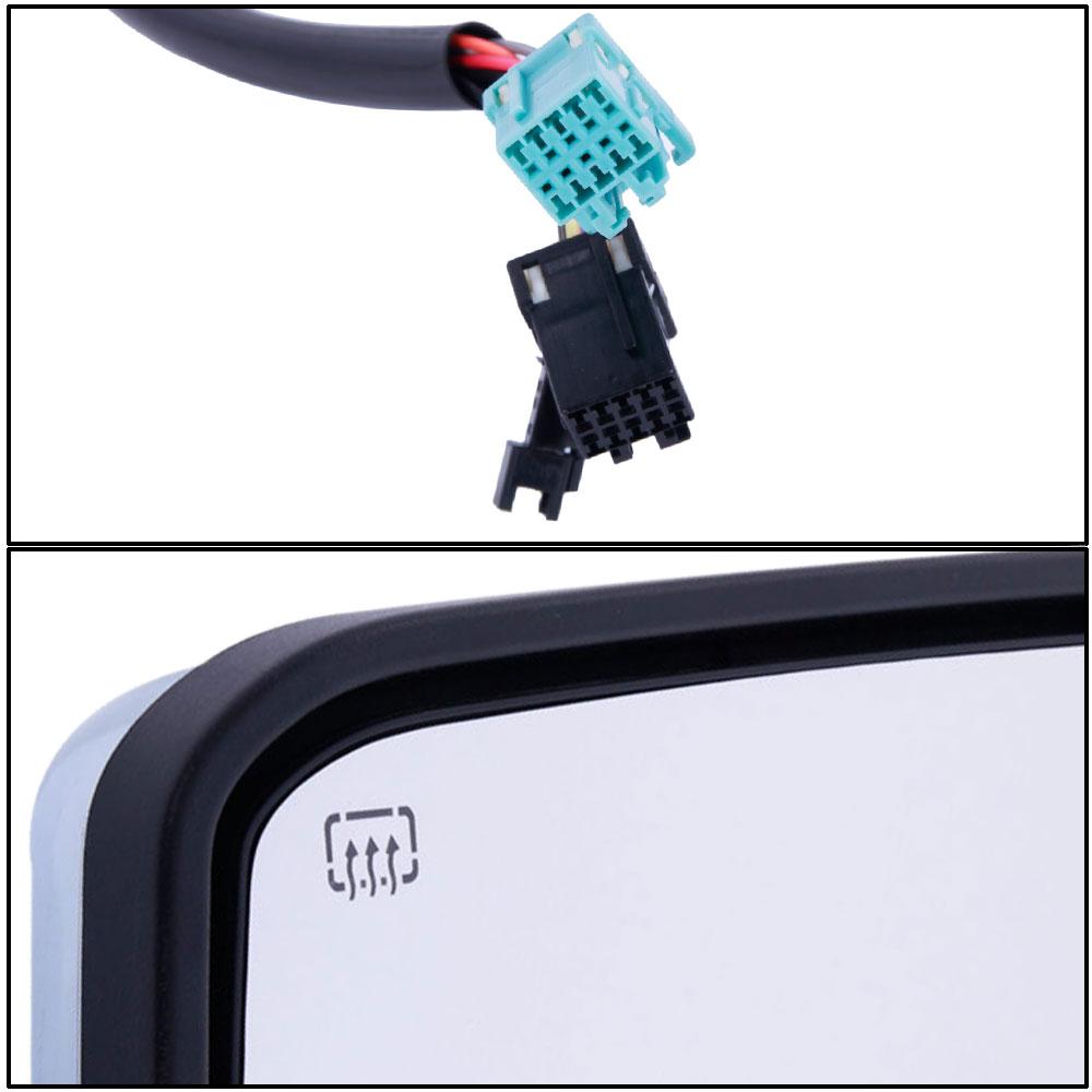 Chrome Tow Mirrors For 03 07 Chevy Silverado Power Heated