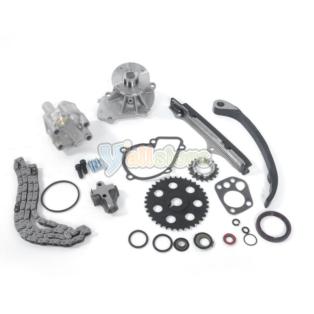 timing chain kit w oil water pump tensioner fits nissan. Black Bedroom Furniture Sets. Home Design Ideas