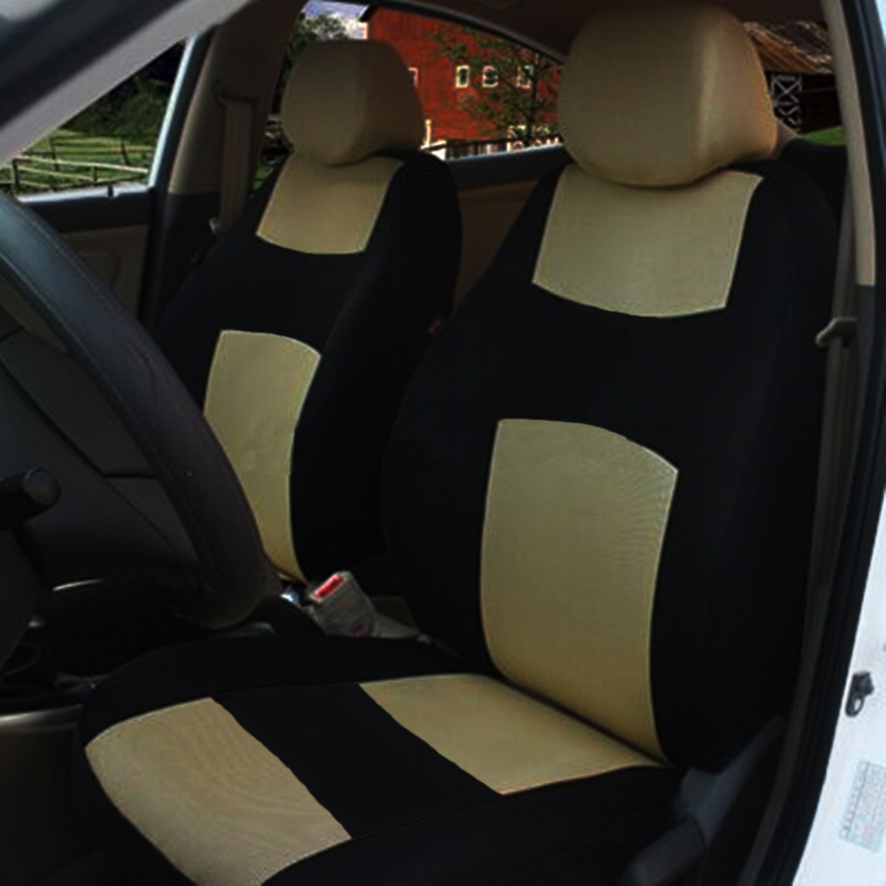 Universal Auto Full Set Car Seat Covers Polyester Front Rear 5 Heads