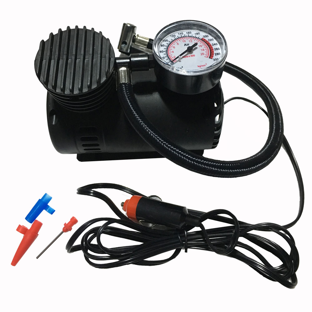 12v 150 300 psi air compressor electric pump tire inflator for cars bikes toys ebay. Black Bedroom Furniture Sets. Home Design Ideas
