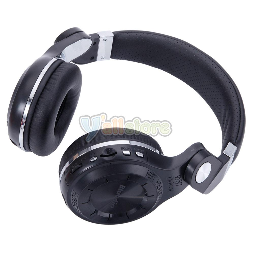 bluedio t2 plus bluetooth stereo headset wireless headphone mic sd slot black ebay. Black Bedroom Furniture Sets. Home Design Ideas