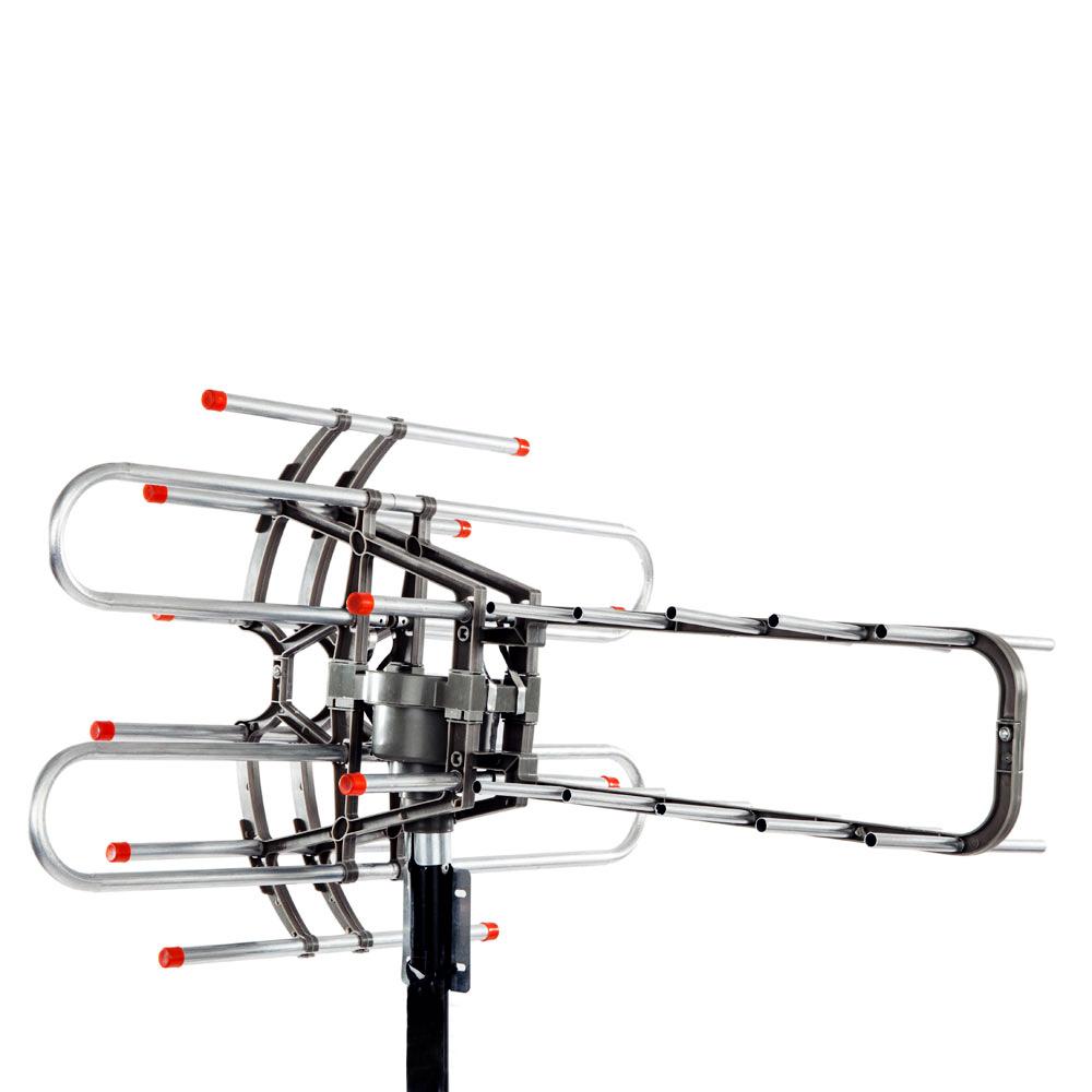 outdoor waterproof amplified antenna hd tv 36db rotor 360 u00b0uhf  vhf  fm 150 miles auctions