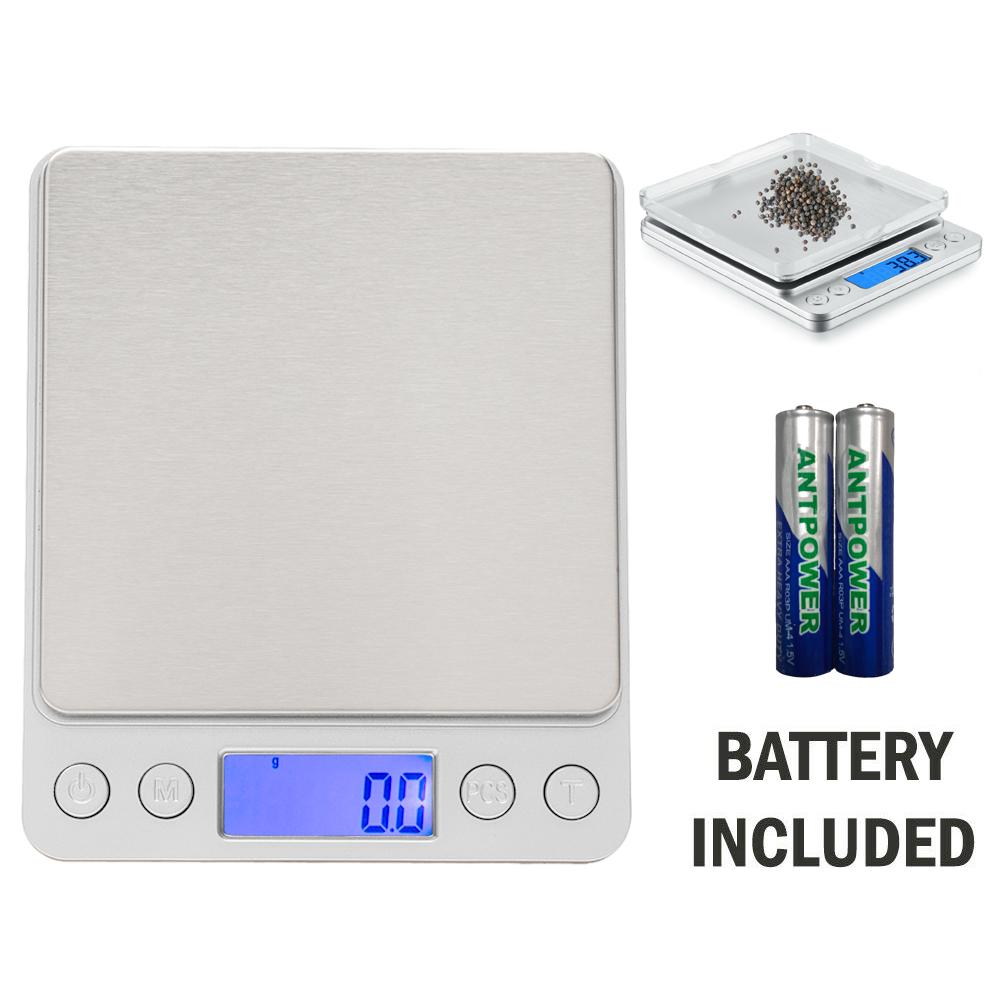 6daa56e43364 Digital Scale 3000g x 0.1g Jewelry Gold Silver Coin Gram Food Weigh ...