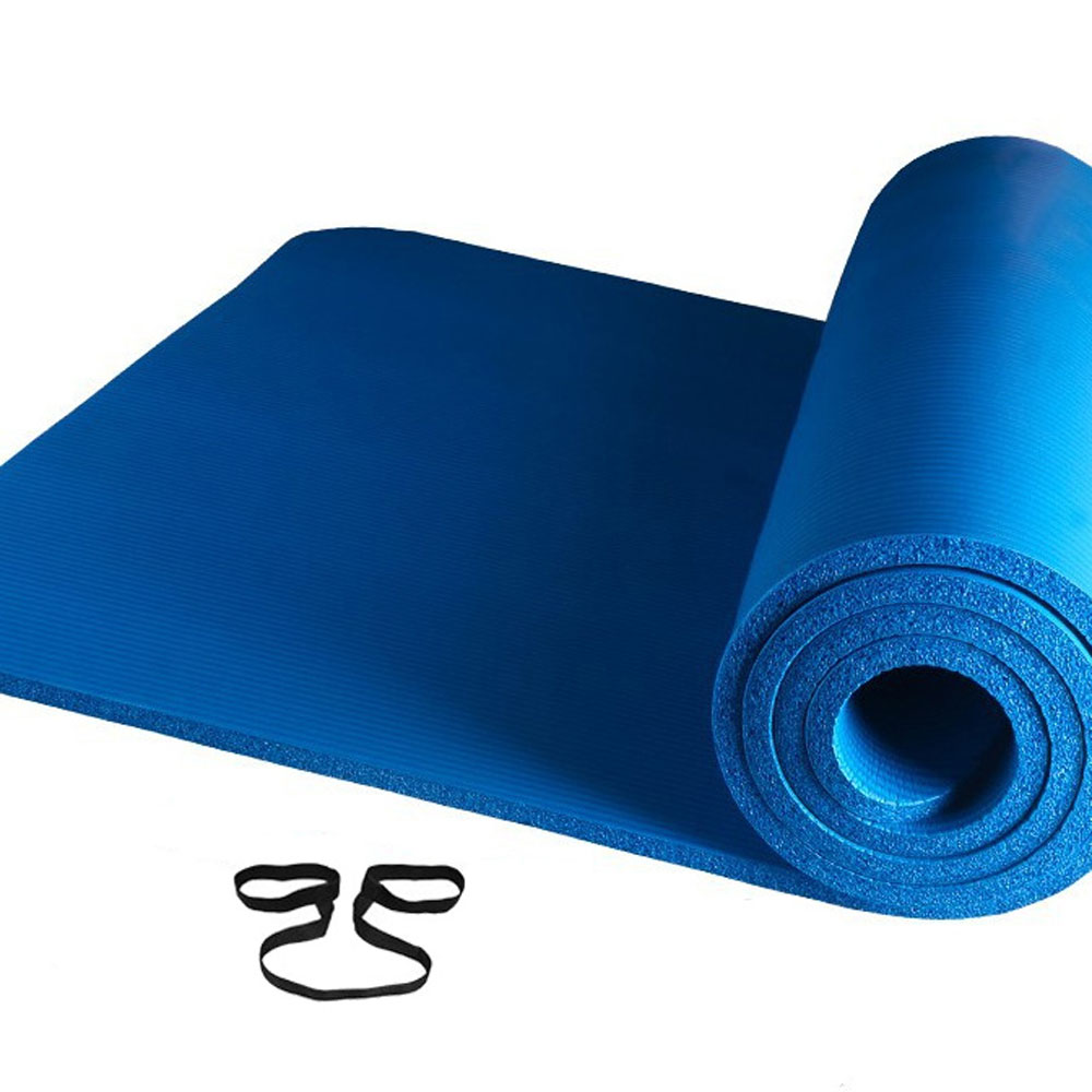 Portable Non-slip Yoga Mat 8MM Thick Fitness Exercise Pad