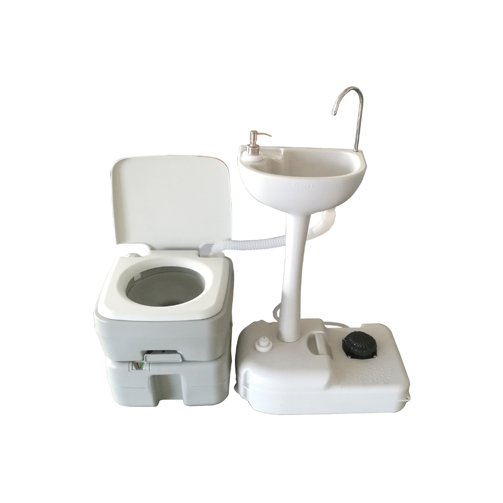 Commercial Portable Toilet : L portable camping toilet flush porta travel outdoor