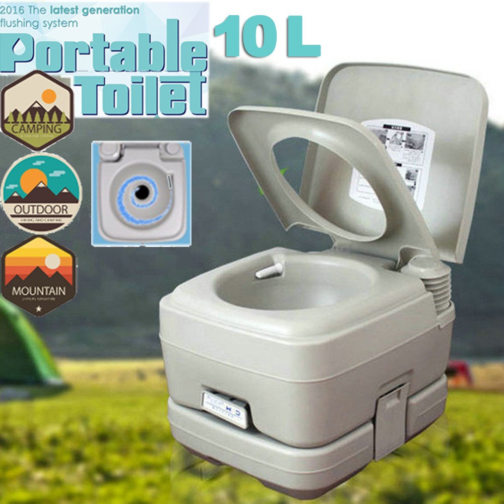 10L Holding Tank Portable Camping Toilet Flush Porta Vehicle Boat ...
