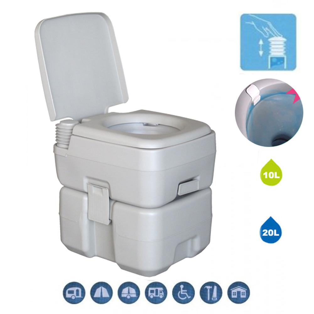 20l 5 Gallon Portable Toilet Outdoor Camping Hiking Garden