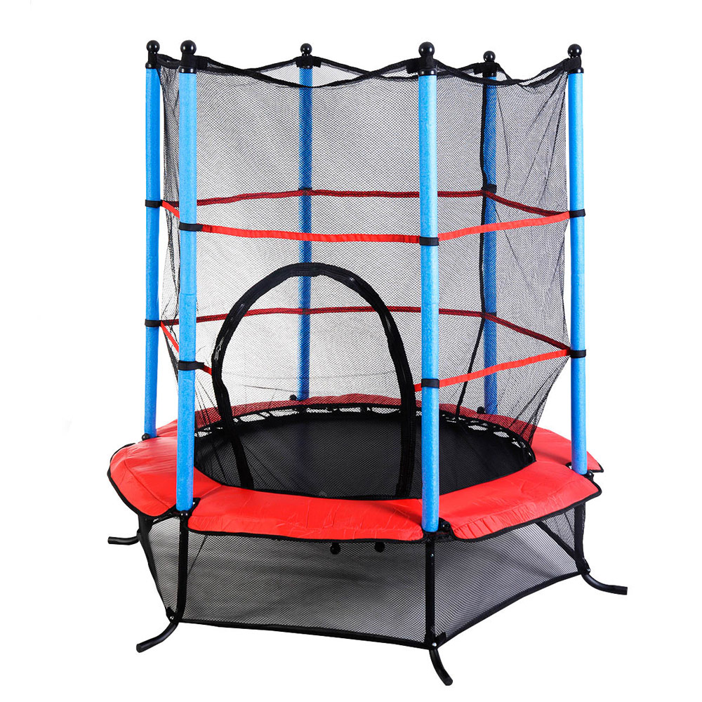 "New 14ft Trampoline Combo Bounce Jump Safety Enclosure Net: 55"" Trampoline Youth Round Jumping Exercise Safety Pad"