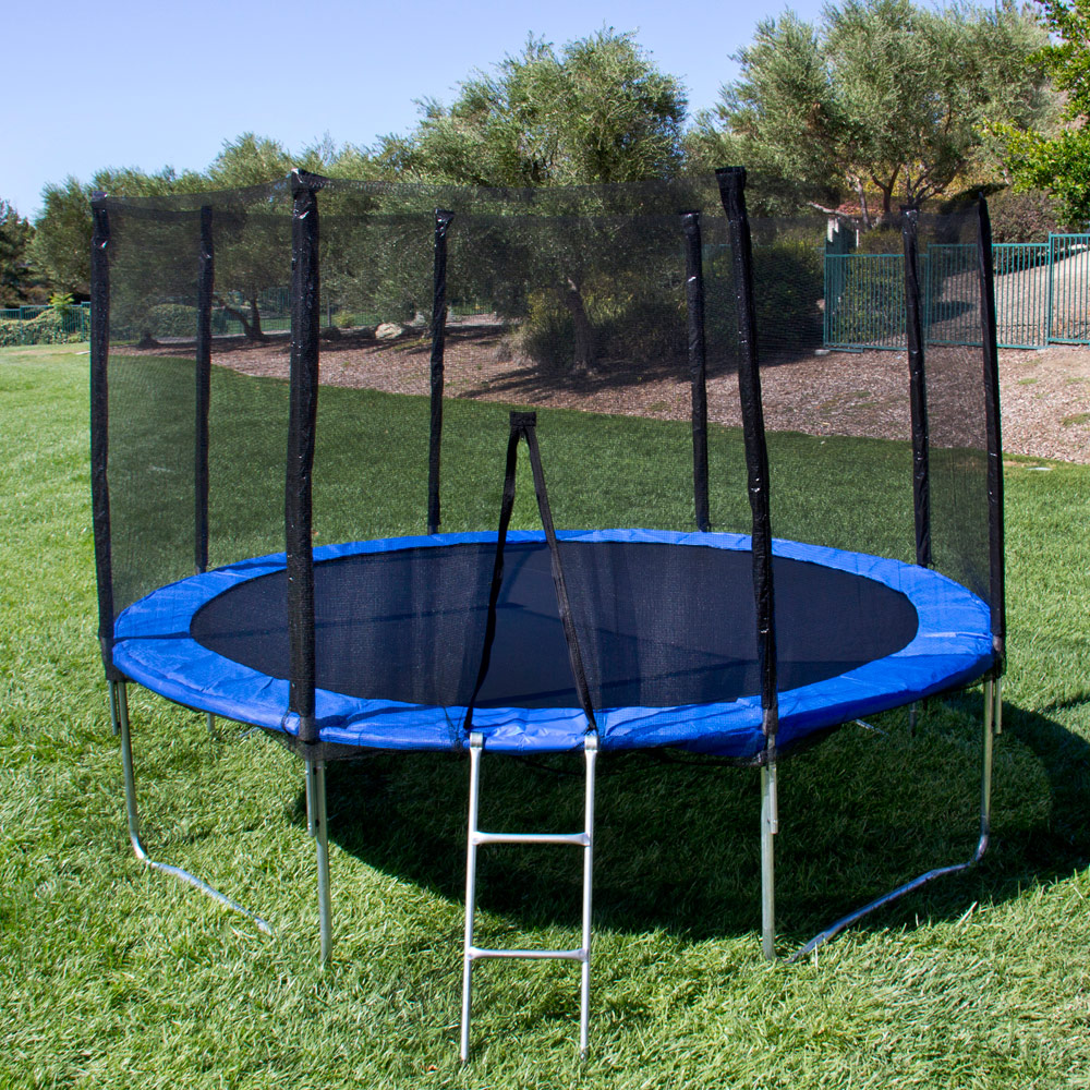Trampoline Springs Off: 12FT Round Trampoline Combo Safety Enclosure Bounce Jump