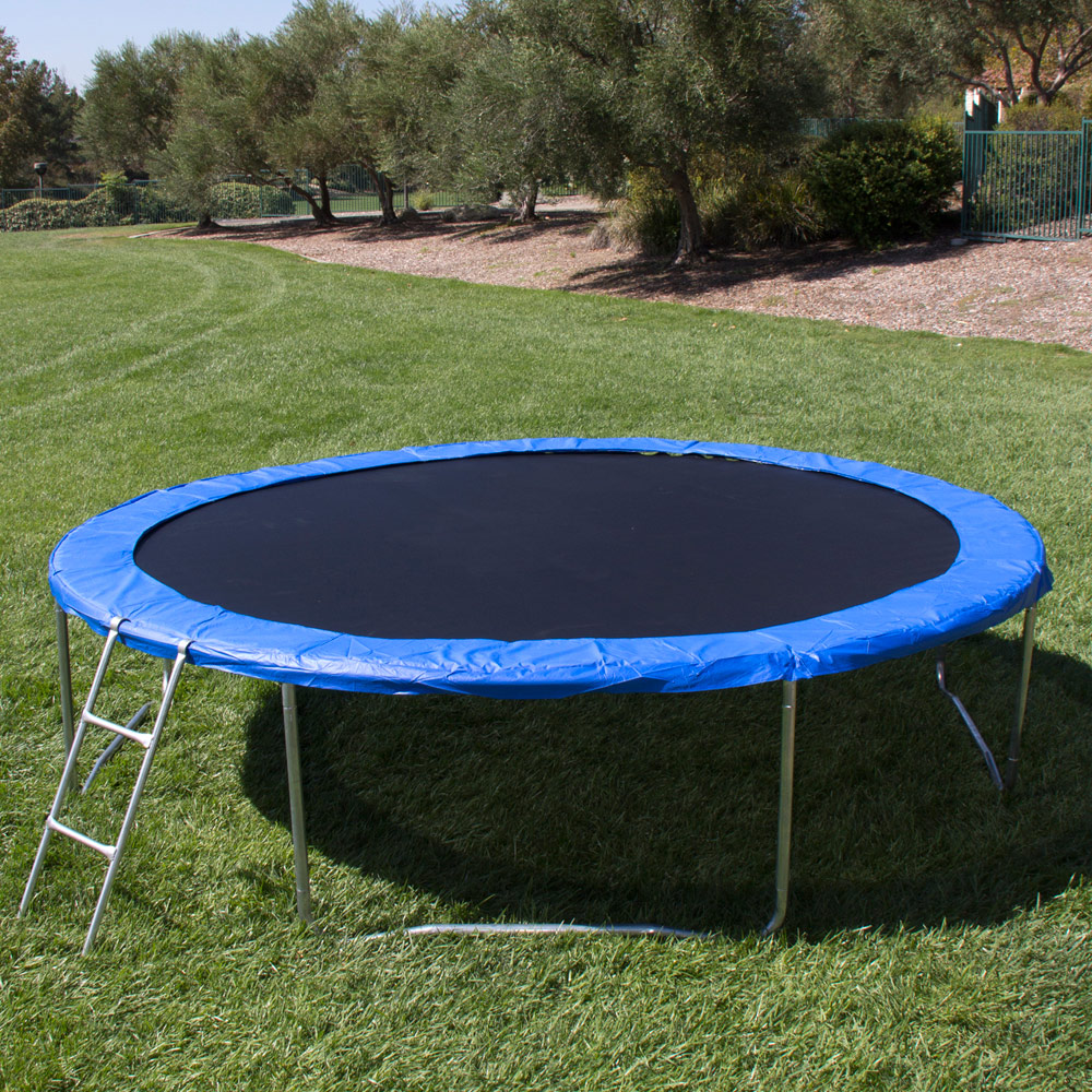 14 Round Spring Pad Rust: 12FT Round Trampoline Combo Safety Enclosure Bounce Jump