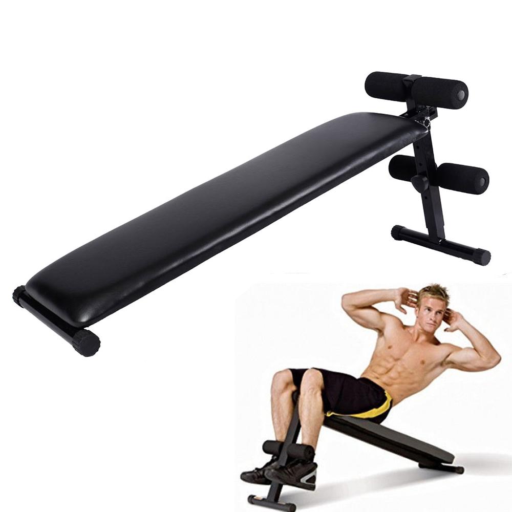Folding Adjustable Ab Sit Up Bench Decline Home Gym Crunch