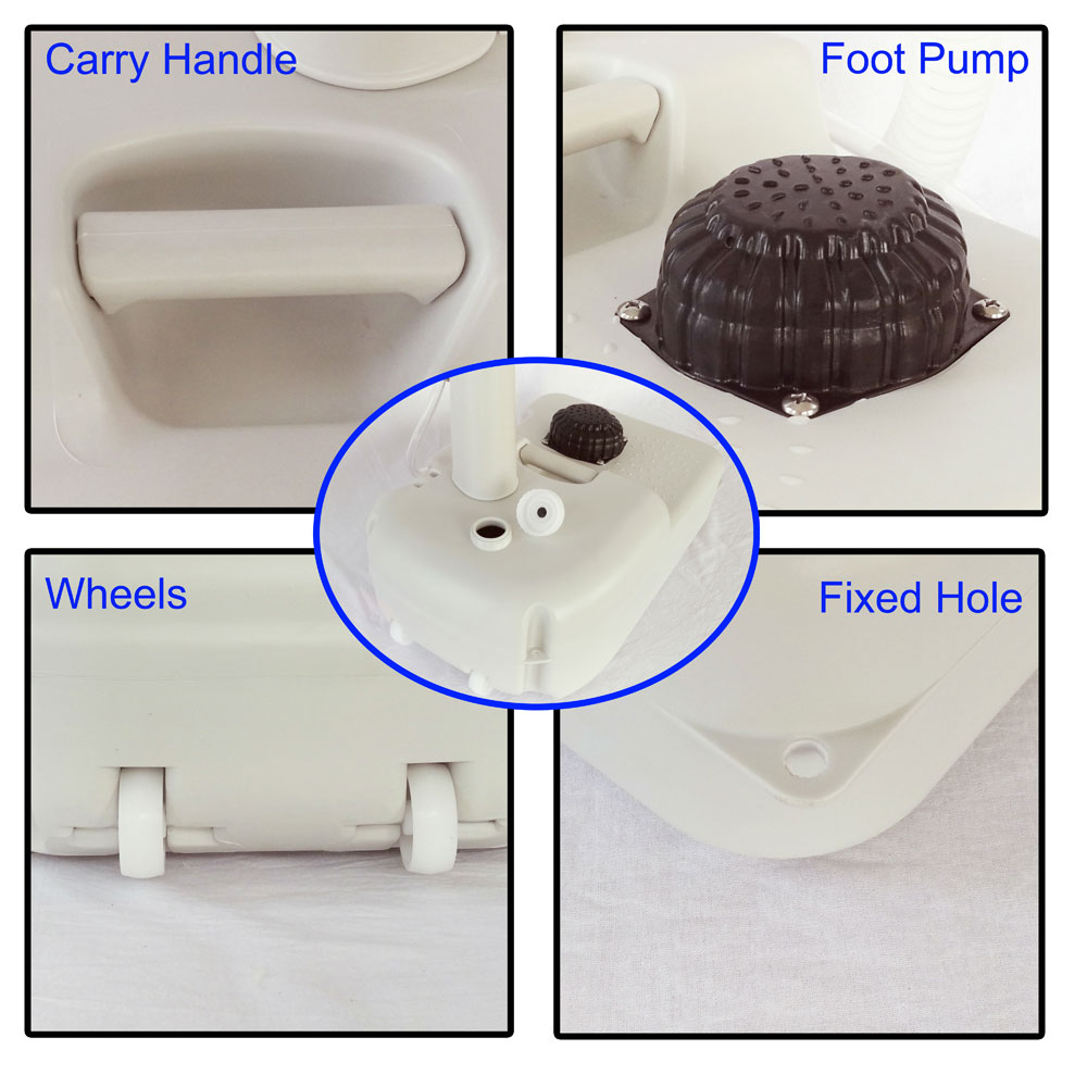 Outdoor Wash Basin Sink Water Tank Faucet Removable Camping for ...